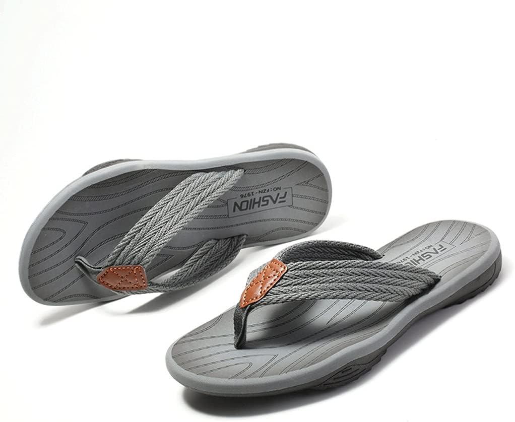 CYANQ Men's Summer Flip Flops Summer Outdoor Sandals Open Toe Sandals Beach Shoes EVA Slippers Size 39-47 EU (Size : 40 EU)