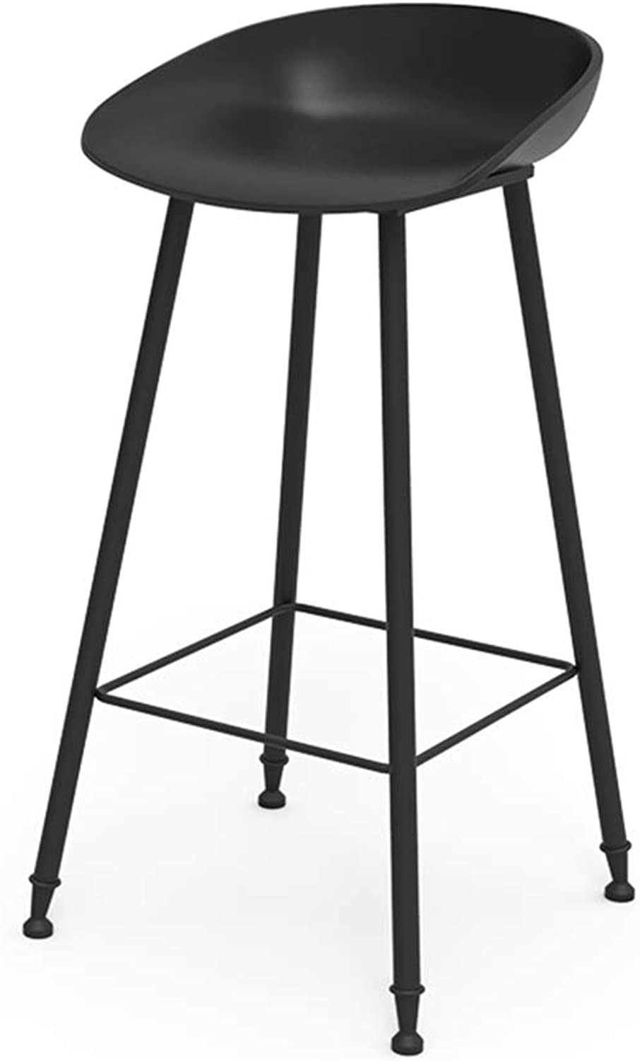 Creative PP Bar Chair,Nordic Wrought Iron Barstools,Easy to Clean,Strong Bearing Capacity,for Pub Counter Cafe Kitchen Home