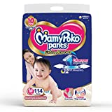 MamyPoko Pants Extra Absorb Baby Diapers Monthly Pack, Medium (7 -12 kg) 114 Count