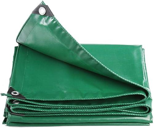 Yuke Bache Verte imperméable - Bache en PVC Robuste avec Coins renforcés, pour Meubles de Jardin, bahut, Trampoline, Bois, Voiture, Camping ou Jardinage (Taille   5M×7M)
