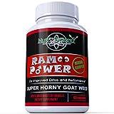 Ram Power Super Horny Goat Weed 1000mg Plus Maca Root, Tongkat Ali, L-Arginine, Gensing for Improved Drive and Performance