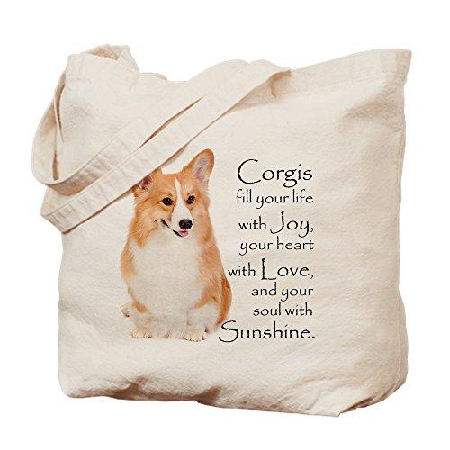 CafePress Pembroke Corgi Natural Canvas Tote Bag, Reusable Shopping Bag