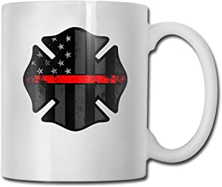 Fire Firefighter Thin Red Line Fashion Coffee Cup Porcelain Mugs