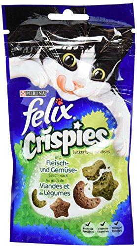 Felix Crispies KatzenSnack Fleisch und Gemüsegeschmack, 45g