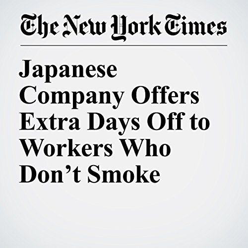 Japanese Company Offers Extra Days Off to Workers Who Don't Smoke copertina