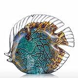 Tooarts Adornos de vidrio de esculturas de peces para la decoración del hogar, oficinas...
