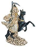 GC 13' Money Santa Santisima Muerte Holy Death Grim Reaper Statue Figure Horse
