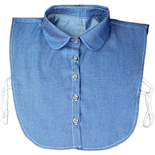 Tandou Krageneinsatz Damen - Blusenkragen Einsatz Fake Kragen Abnehmbare