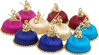 Multiline company Plastic Copper and Aventurine Earring Set for Women & Girls, White