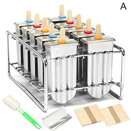 Eis Form Edelstahl Popsicle Form Eis Pop Form Eis Stöcke Eis am Stiel Form Eiscreme Formen DIY Eiscreme Form Eis-Stock