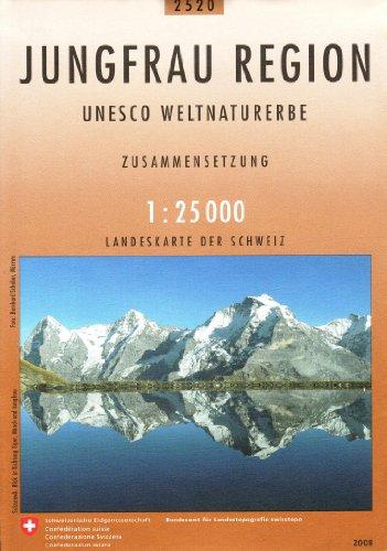 2520 Jungfrau Region - UNESCO Weltnaturerbe: Zusammensetzung (Landeskarte 1:25 000 Zusammensetzungen)