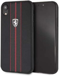 Ferrari Urban Off Track PU Leather Hard Case for iPhone Xr - Black