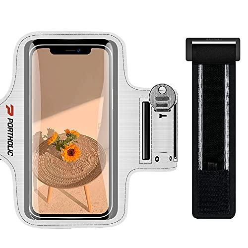 Sportarmband Handy, Schweißfest Sport Armband für iPhone 13 12 11 Pro Max, Galaxy S21 S20 S10, Huawei P40, Xiaomi Redmi Oppo REALME, mit Verlängerungsband, für Joggen Radfahren Wandern (6,0-6,7 Zoll)