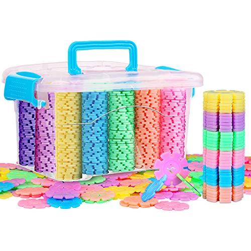 Jouets éducatifs de flocon de neige, 800 pièces de blocs de construction de jouets en plastique pour l'orthographe éducative pour enfants de 3-4-5-6-8-10 ans et plus, fournissant des matériaux sûrs