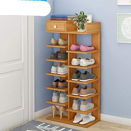 Zapatero de doble hilera o muebles de madera para el hogar para sala de estar Zapatero con caj¨n-15