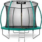 Neo-Sport Gartentrampolin Trampolin 305 cm für Kinder Komplettset mit Innen-Sicherheitsnetz Leiter Federabdeckung Sprungmatte