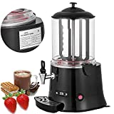 Happybuy Commercial Hot Chocolate Machine 400W Cocoa Melting Beverage Dispenser 10 Liter Milk Frother Digital Control for Restaurants Bakeries Cafes