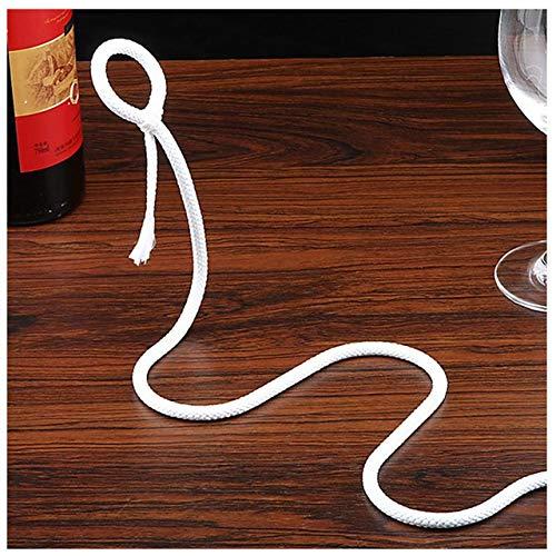 Periste Cadena de artesanía creativa Rack de vino Truco 3D suspendido Alcohol Botella de alcohol Blanco Cuerda Botella de vino Titular de la botella de vino Práctico Domicile Barra de cocina Bastidor