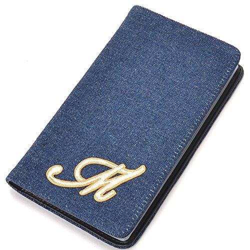 [ビートンジャパン] デニム カードケース 大容量 イニシャル 付 診察券 ポイントカードケース カード入れ レディース