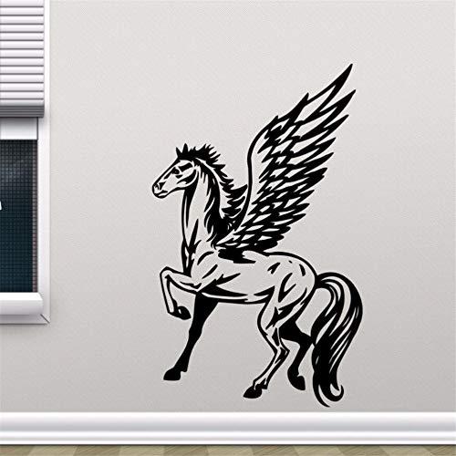 Zyzdsd Geflügelte Pferd Pegasus Wand Aufkleber Removable Einhorn Vinyl Wandaufkleber Wohnkultur Kinder Schlafzimmer Tapete Entfernbare Wandmalereien 42 * 69 Cm