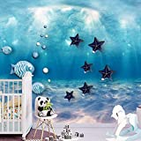 Personalizado mundo submarino océano habitación mural acuario tema estilo de dibujos animados bebé piscina papel tapiz tela
