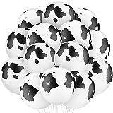 Globos de Vaca Globos de Látex Globos de Vaca con Estampado Divertido para Decoraciones de Suministros de Fiestas de Cumpleaños (48)