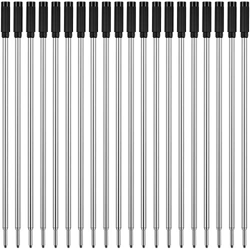 Unibene Cross Compatible Ballpoint Pen Refills 20 Pack, 1.0mm Medium Point-Black, Smooth Writing Replaceable German Ink Refill