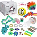 Anpro 24pcs Kit de Juguetes Antiestrés,Libera Estrés y Ansiedad para Adultos,Regalos en Navidad, Fiesta de Cumpleaños de Anpro