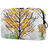 ATOMO Bolsa de maquillaje, bolsa de viaje de moda cosmética grande bolsa de aseo organizador de maquillaje para mujeres, árbol crecer de gato patrón