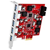 FebSmart 7-Ports Superspeed 5Gbps USB 3.0 PCI Express (PCIe) Expansion Card-5...