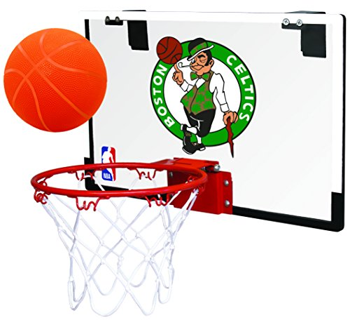 Rawlings NBA Game On Polycarbonate (PC) Mini Basketball Hoop Set, Boston Celtics