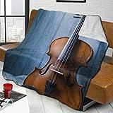 AEMAPE Manta para violín en la Mesa, colchas Gruesas para sillas, colchas para Mujeres, Alfombrilla para Dormir Duradera, Funda de Franela para Invierno, 50 'x 60'