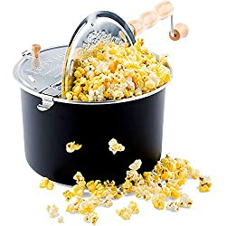 Image: Franklin's Original Whirley Pop Stovetop Popcorn Machine Popper | Delicious and Healthy Movie Theater Popcorn Maker | FREE Organic Popcorn Kit | Makes Popcorn Just Like the Movies