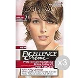 Set 3 EXCELLENCE 7.1 Biondo Cenere Tinta E Colore Per Capelli