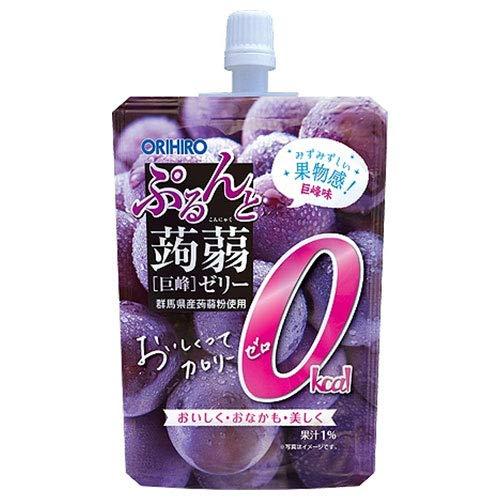 オリヒロ ぷるんと蒟蒻ゼリー 0kcal 巨峰 130gパウチ×48本入×(2ケース)