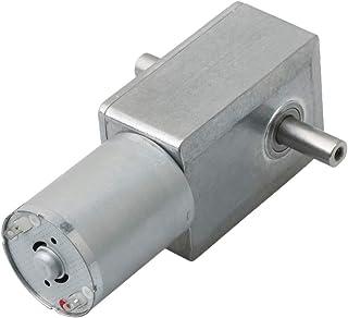 BQLZR Silver High Torque Turbine Speed Reduction Motor Cartesian Gearbox 6V 40rpm JGY370 Worm Turbo Electrical Geared DC Motor