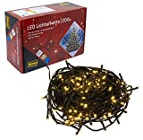 Idena 8325066 LED Lichterkette mit 200 LED in warm...