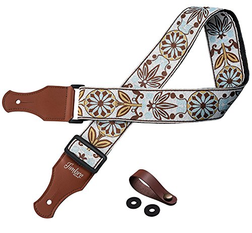 TIMBREGEAR extreme comfort acoustic guitar strap electric guitar strap free - two guitar strap locks...
