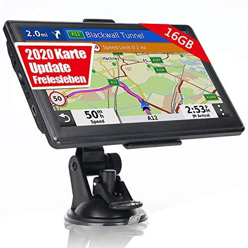 OHREX Navigationsgerät für Auto LKW PKW Navi 7 Zoll 16GB Lebenslang Kostenlose Kartenupdate GPS Navigation mit POI Blitzerwarnung Sprachführung Fahrspurassistent 2019 Europa UK Welt Karten