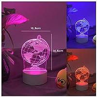 3Dイリュージョンナイトライト グローブ 子供のためのランプ3Dナイトライト-スマートタッチとUSBケーブル付き7色ナイトライト恋人クリスマスギフト女性のための十代の女の子の家の装飾
