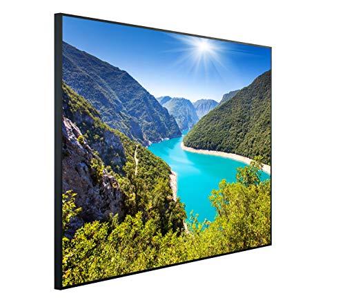 InfrarotPro C43-1200   Infrarotheizung 1200 Watt Bildheizung 300+ Motive   Made in Germany   Geprüfte Technik   Ultra-HD Auflösung, B07: Landschaft Berge und Wiesen, 115x100x3cm