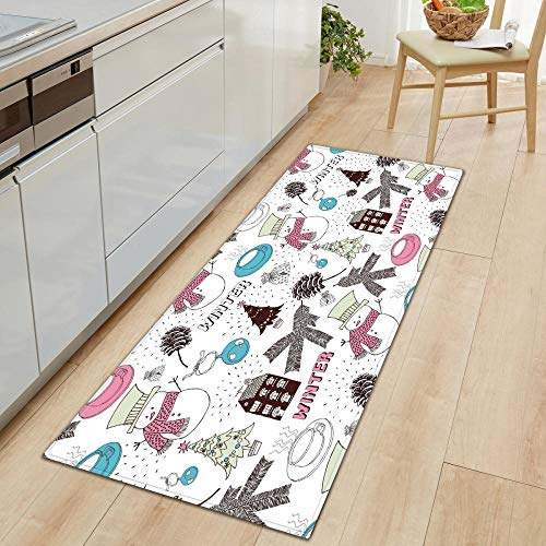 XIAOZHANG door mat runner Chic and simple decoration Crystal velvet door mat indoor outdoor carpet corridor floor bedroom living room study rugs Non-slip absorbent 40x120CM