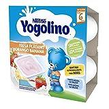 Nestlé Yogolino Fresa Plátano Sin Azúcar Añadido, A Partir De Los 8 Meses - Pack 6 tarrinas 4x100g
