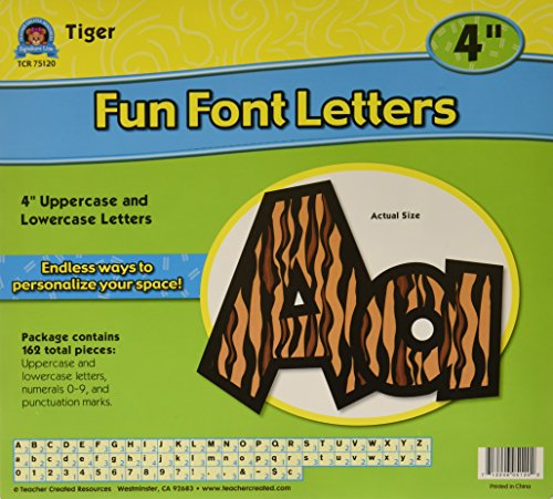 Teacher Created Resources Tiger 4-Inch Fun Font Letters