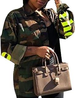 22e1857556720 Keaac Women's Lightweight Fashion Long Sleeve Military Jacket Coat