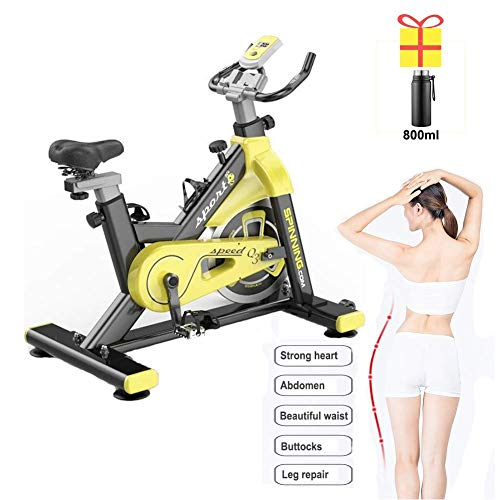 RVTYR - Bicicletta da interni da ciclismo, con bollitore in acciaio inox, volano da 20 kg, sedile regolabile, pedale per l'allenamento a casa, pedale, cyclette