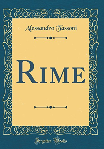 Rime (Classic Reprint)