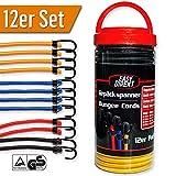 EasyDirekt 12er Set - Premium - Gepäckspanner Expander Spanngurte mit