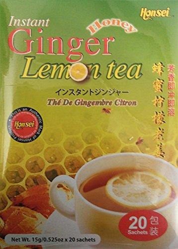 LEMON Honsei Instant Ginger Honey Tea 15 G/0.525oz -(20 Sachets)
