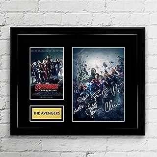The Avengers Cast Signed Autographed Photo Mat Custom Framed 11 x 14 Replica Reprint Rp